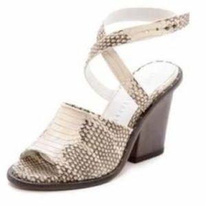NEW Freda Salvador Snakeskin Leather Sandals