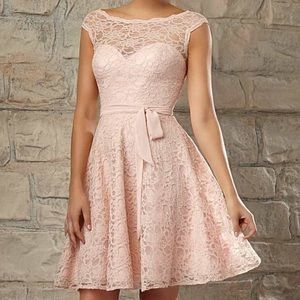 Mori Lee Dresses & Skirts - New Mori Lee 725 light pink lace formal dress