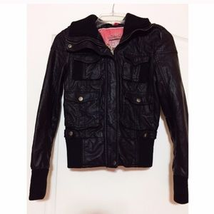 Collection B Jackets & Blazers - Black leather jacket