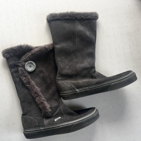 Vans Shoes   Grey Suede Vans Boots
