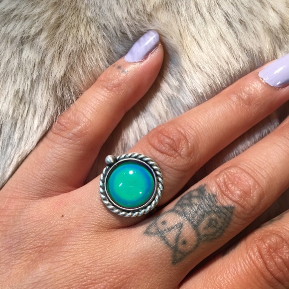 eb0035ef3 The wooden nickel Jewelry | Sterling Silver Mood Ring | Poshmark