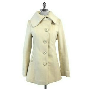 Mackage- Cream Wool & Cashmere Blend Coat Sz S