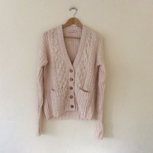 See By Chloe Chunky Knit Cardigan 2 Xs S Nwot