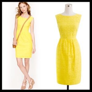 j. crew // lucille lace dress • yellow