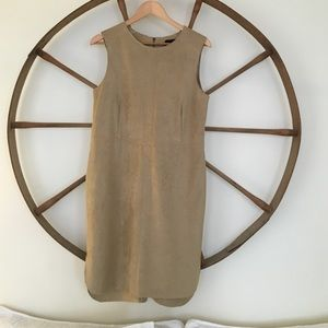 Bagatelle Sleeveless Faux-Suede Dress, Camel NWOT