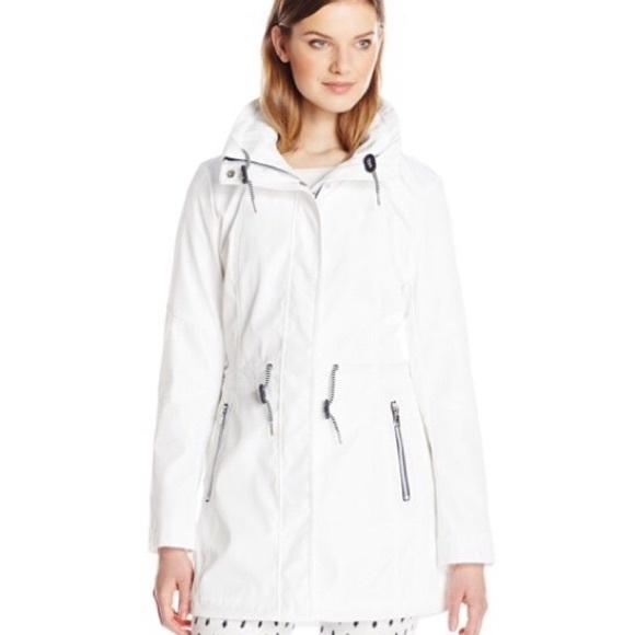fe82ef3c03507 Jessica Simpson Jackets & Coats | Anorak White Hooded Jacket Xl Nwt ...