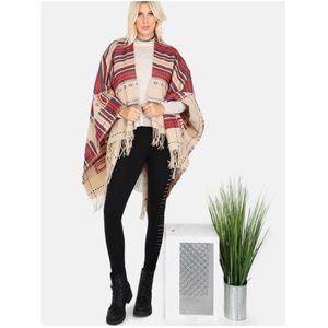 Flash SaleFringe Poncho