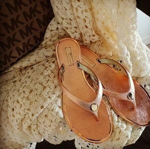 Shoes - Rose gold flats sandals shoes