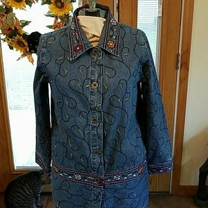 Embroidered beautiful Jean jacket