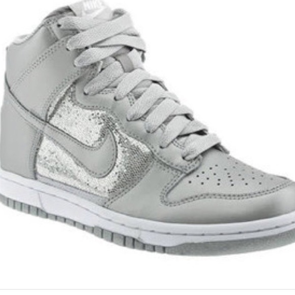 Nike Shoes - Silver Nikes