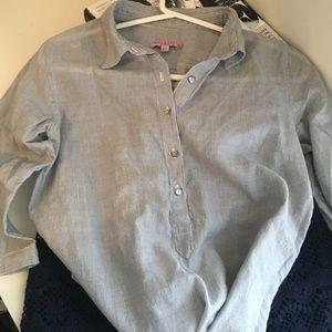 Calypso St. Barth Tops - Calyspo St Barth 100% cotton pinstripe shirt