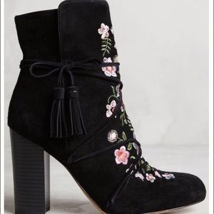 6ebed42ab Sam Edelman Shoes - Anthropologie Winnie embroidered suede boots NEW