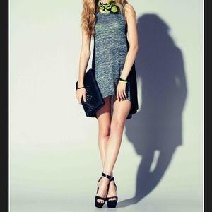 Rock & Republic Dex Dress Charcoal/Blk NEW Med