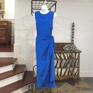 Maggy London Royal Blue Wrap Dress Sz-12