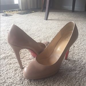 Christian Louboutin Shoes - Christian Louboutin New Simple Pump Nude Leather