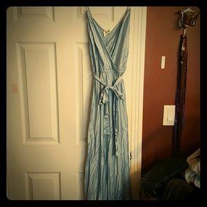 Floor length silk nightgown