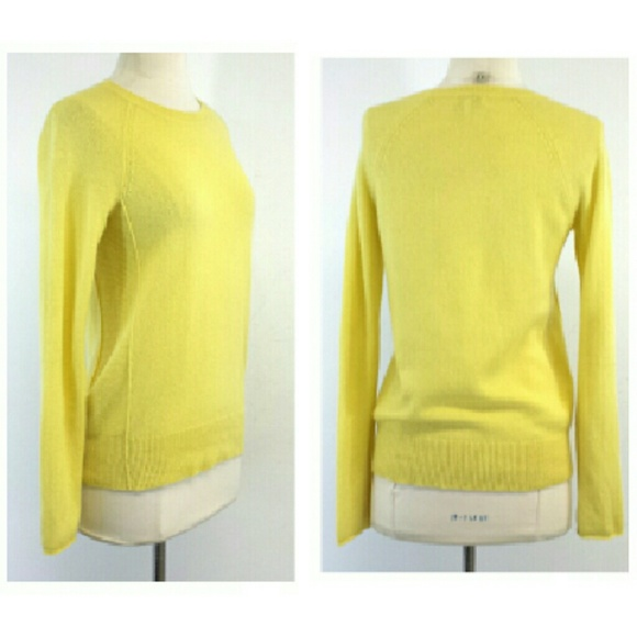 60% off Joie Sweaters - Joie- Yellow Cashmere Sweater Sz XS from ...
