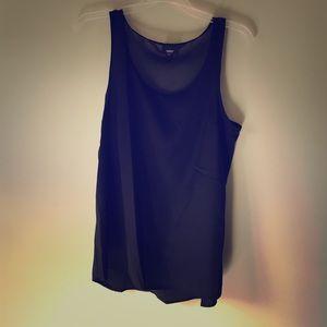 Target Mossimo plain black tank blouse tunic s