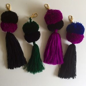 Accessories - 🔻SALE-Hand Made Pom Pom Tassel Keychain
