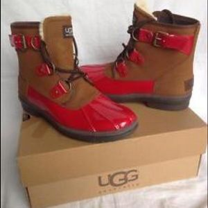 65 Off Ugg Shoes Ugg Leather Simmens Waterproof Boots