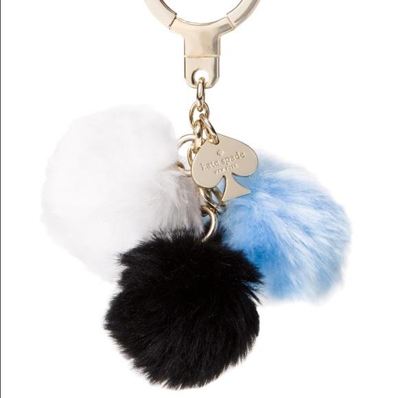 70 Off Kate Spade Accessories Triple Fur Ball Charm