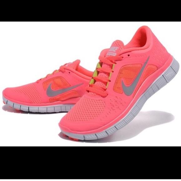 Nike Shoes Free Run 3 Neon Pink størrelse 8Poshmark Hot Punch Pink Free Run 30 Poshmark