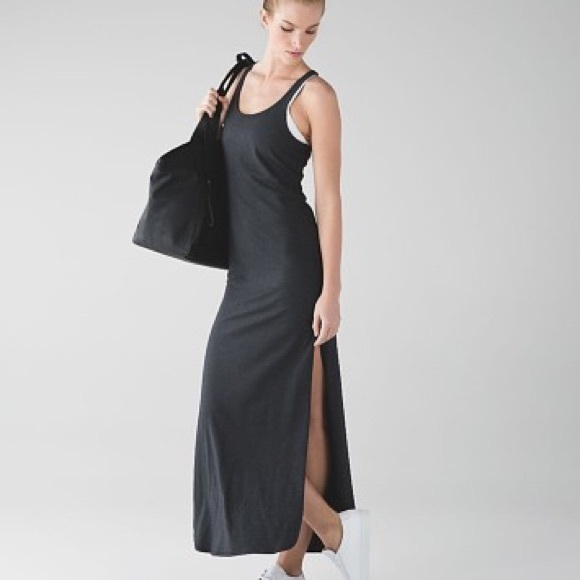e4e3376186 lululemon athletica Dresses   Skirts - Refresh Maxi Dress Heathered Black