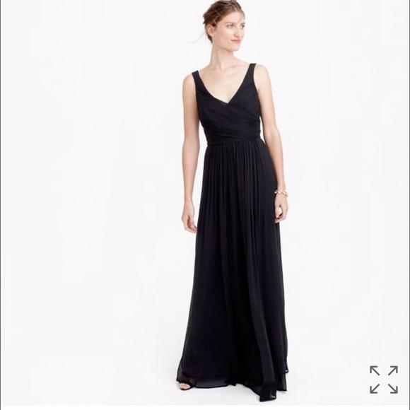 J. Crew Dresses | J Crew Bridesmaid Evening Gown Prom Dress Chiffon ...