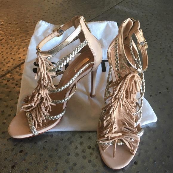 a8e1b5f91e05 M 57eaca007fab3a99ef002d2e. Other Shoes you may like. W Schutz Black  Ankle-Strap Suede Heel