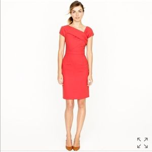 JCrew Origami Sheath Dress, Burnt Orange (Size 10)