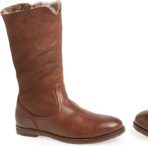Trask Shoes - Chocolate brown Trask shearling lined boots
