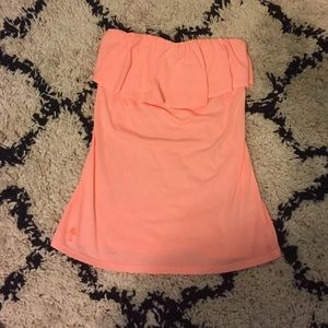 Coral, Lilly Pulitzer strapless top