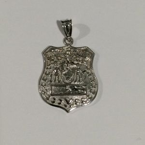 Jewelry - 14k White Gold City Of New York Police Badge Charm