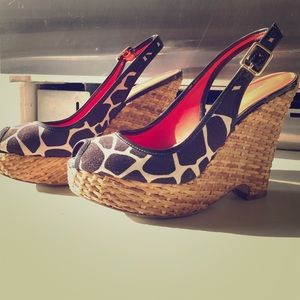 Banana Republic Slingback Peep toe Wedges
