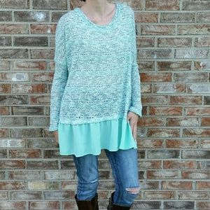 Mint Loose Knit Sweater