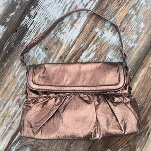 Handbags - Bronze Metallic Shoulder Bag