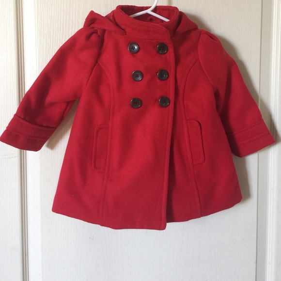 81% off Old Navy Other - Beautiful red pea coat for toddler with ...
