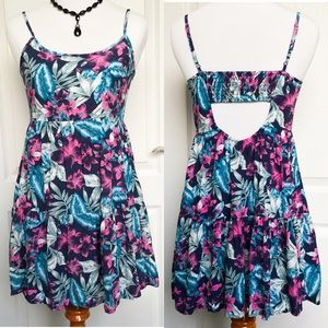 American Eagle Outfitters Dresses & Skirts - American Eagle Floral Tunic Top Mini Dress XXS 00