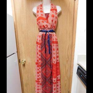 Cato Dresses & Skirts - Incredible Block Maxi Dress W/ Waistband &Belt