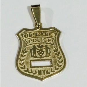 Jewelry - 14k Yellow Gold City Of New York Police Badge