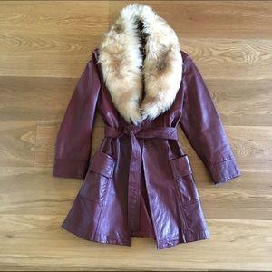Jackets & Blazers - 70's leather coat