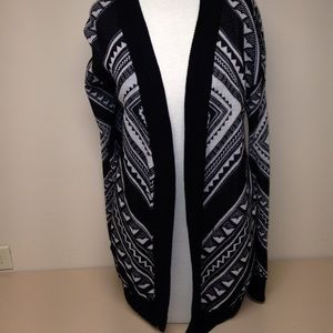 forever 21 Sweaters - Geometric Long open Front Sweater