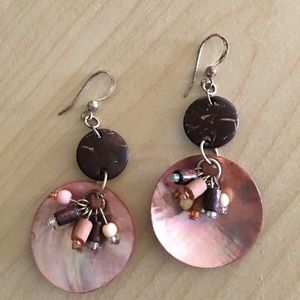 Jewelry - 1/1/18Boho chic earring BLUE IS SOLD PINK ONLY!!!