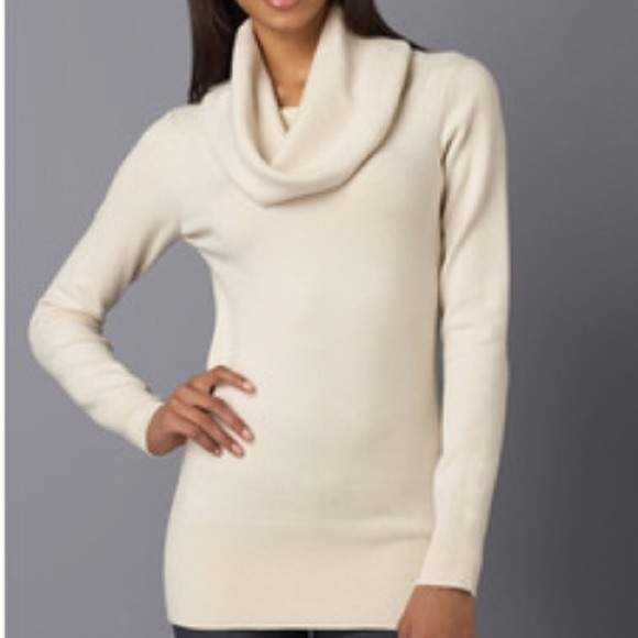 80% off French Connection Sweaters - French Connection Cream Cowl ...