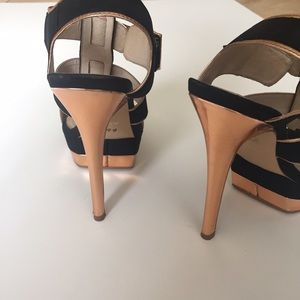 2a5b474dcd4 ALDO black and rose gold strappy platform heels
