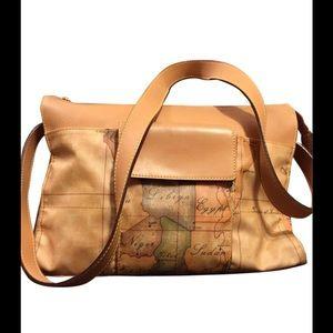 alviero martini Handbags - Alviero Martini autographed map vinyl tote handbag