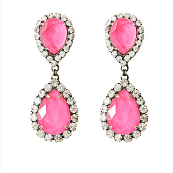 stud fashion gemstones pink marquise angel neon crystal statement hot earrings