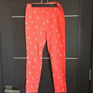 Heritage 1981 Pants - Heritage 1981 anchor/polka dot print cropped pants