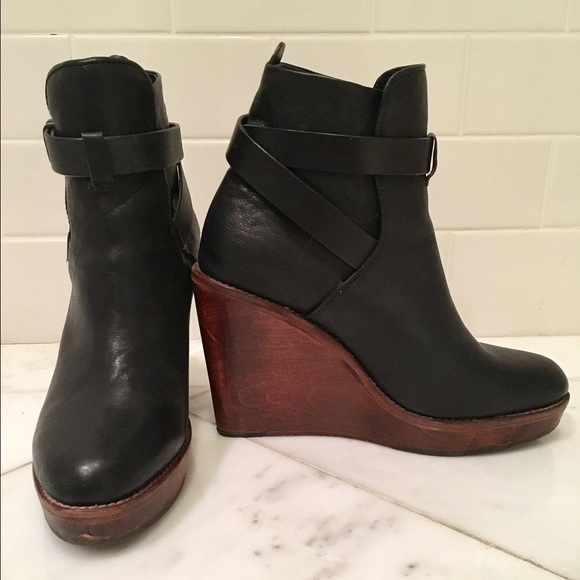 outlet with paypal order Rag & Bone Leather Wedge Booties deals cheap price cheap best prices shop sale online cheap sale shopping online igpdcvCew3