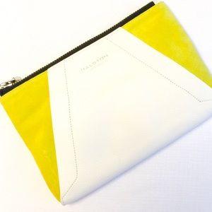 Halston Heritage Handbags - 🎉HP New Halston Heritage Leather & Suede Clutch!